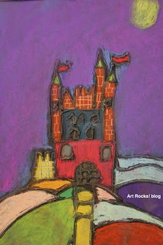 combining shapes to create Pastel Castles