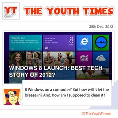 #Microsoft finally updated their OS this year! How many of you have tried #Windows 8? What did you think? Does it come close to Apple's newest #OS Mountain Lion? Do you think it was a a big step in the tech world? Share your thoughts below!  #theyouthtimes #technology #gadgets #news #youth #india #comic #opinion #tech #apple #mountainlion #windows8