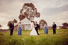 Blue & White Country Wedding