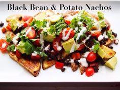 Black Bean & Potato Nacho Plate - YouTube