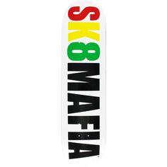 Sk8mafia Skateboards OG Logo White/Rasta skateboard- now at Warehouse Skateboards! #skateboards