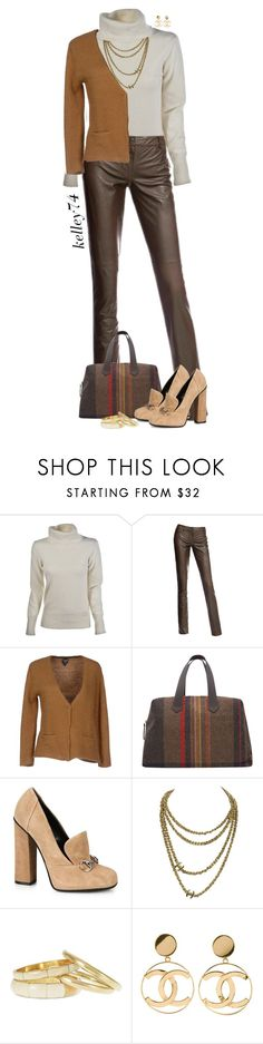 """Turtleneck Sweater"" by kelley74 ❤ liked on Polyvore featuring Danier, SWILDENS, Paul Smith, Gucci, Chanel and Cara"