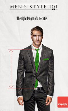 Ever wonder how long your tie should be? Here's the answer.