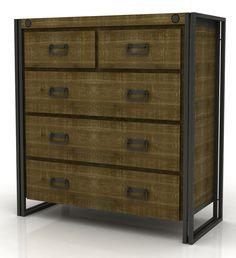 Brooklyn 5 Drawer Tallboy Dresser