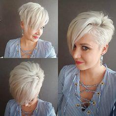 Weißes Haar ist in kurzen Haaren wirklich cool - Frisuren Stil Haar