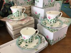 Tilly's Garden by Ashdene. Sweet teacup and saucer sets.