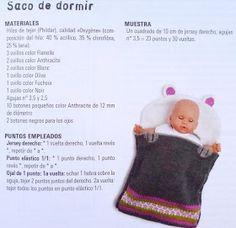 El mundo de los nenucos: Saquito para los Nenucos Knitting For Kids, Baby Knitting Patterns, Baby Born, Knitted Dolls, Baby Dolls, Sewing Crafts, Free Pattern, Crochet Hats, Kids Rugs