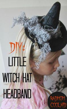 DIY: little witch hat headband : radmomcoolkid.com #witchcostume #halloween #halloweencostumes #witchhatdiy