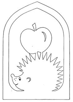score for poem apple school - Trending Pins Kirigami, Fall Crafts, Diy And Crafts, Crafts For Kids, Paper Crafts, Apple School, Stencils, Hedgehog Craft, Felt Patterns