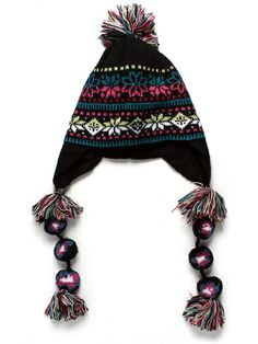 WOMEN's EARFLAP ELLA HAT (MULTI-COLOURED)