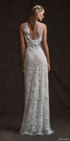limor rosen bridal 2016 treasure charlotte sleeveless wedding dress illusion neckline beaded applique keyhole back