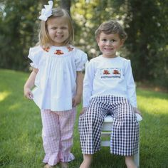 Thanksgiving is almost here! Check out these adorable smocked Thanksgiving outfits for your little boy or girl! They will look adorable on Turkey Day! Cecil And Lou, Future Daughter, Thanksgiving Outfit, Young Models, Cute Baby Clothes, Autumn Inspiration, Girls Shopping, Smocking, Cute Babies