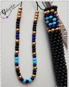 """Instagram'da Gülşahobi: """"Nazar boncuğu gold versiyonu @mellihaseker için hazırlanıyor ❤❤ 8li #Gülşahobi #kendimcetakılarım #kumboncuk #bohembileklik #hapishaneişi…"""" Bead Jewellery, Jewelry Bracelets, Beaded Lanyards, Beaded Jewelry Patterns, Bead Weaving, Bead Crochet Rope, Creations, Beaded Necklace, Helmet"""
