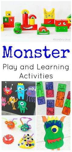 Perfect for Fall and Halloween! Monster Play and Learning Activities for Preschoolers