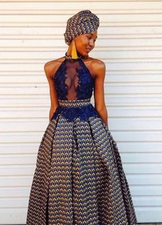 south african traditional dresses for black women -fashion ⋆ African Wedding Attire, African Attire, African Wear, African Print Wedding Dress, South African Traditional Dresses, Traditional Outfits, Traditional Weddings, African Prom Dresses, African Fashion Dresses