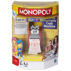 Fiyat: 41,90 TL  Monopoly Çılgın Bankamatik; Eğlenceli Oyun Alanı Daha Renkli Piyon Ev Ve Otelleri Paralar Saçan Elektronik Bankamatik Ünitesiyle Çocuklara Bambaşka Bir Monopoly Heyecanı Yaşatıyor. 5 Yaş + Oyuncu Sayısı: 2-4 Oyuncu Pil: 3 Kalem Pil