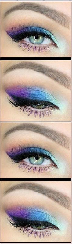 Peacock Inspired Dramatic Eyes Make-Up Ideas . - Peacock Inspired Dramatic Eyes Make-Up Ideas . Cute Makeup, Pretty Makeup, Beauty Makeup, Hair Makeup, Casual Makeup, Perfect Makeup, Gorgeous Makeup, Makeup Geek, Eye Makeup For Hazel Eyes