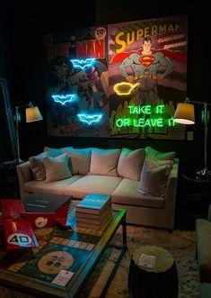 Super heroes Neon by artist Martin Kamischke