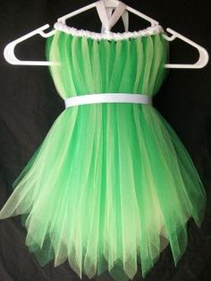 Tinker bell tulle dress DIY