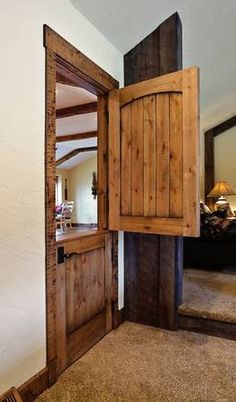 Reclaimed lumber rustic dutch door w/ hard by PetrasRusticDoors