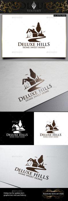 Inspect Home Logo Logo Design Template, Logo Templates, Hill Logo, Building Logo, Real Estate Logo Design, Architecture Logo, Logo Branding, Logo Ad, Logo Maker