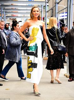 Blake Lively changes outfits as she hits the promo circuit | Daily Mail Online