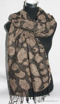 Warme sjaal met print