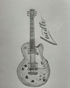 #drawing #guitar #lucille #letteringart #art