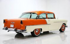 """55 Chevy ~ """"Creamcickle"""" #musclecarmadnessauction"""