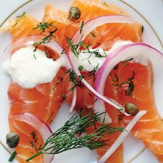Gin Cured Salmon. This recipe inspired by gravlax is made with a unique Canadian spin as the salmon is cured Ungava gin made from botanicals sourced from the far north.