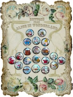 """""""Alice in Wonderland"""" buttons Wow, these look old."""