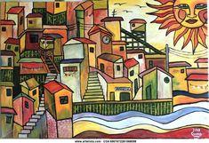 Valparaíso en un Muro Art Painting, Drawings, Painting, Mosaic, Photo Lessons, Art, Jungle Illustration, Poster, Street Art