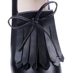 Women's Tassels Oxfords  Flatform Lace Up Platform Pointy Toe Wedge Heels Shoes