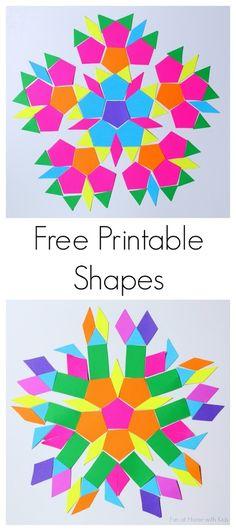 Free Printable Hexi Cards | Hexagons, Indoor activities for kids ...