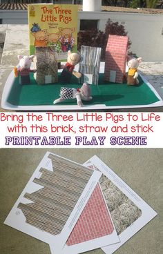 This preschool craft and play activity bring the story of the Three Little Pigs to life. Kids will love retelling and sequencing this story from toddlers, kindergarten and even elementary. Add this sensory bin to a themed party. This wonderful play scene