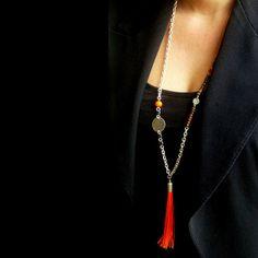 Long collier sautoir Carose. Bijou pièce Unique. par ByCarose, €42.00
