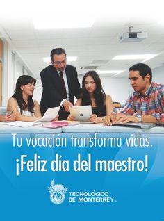 Tu vocación transforma vidas ¡Feliz día del maestro!