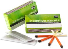 Show your dad you care with matches. Yes, matches. These babies will light up in even the wettest and windiest of weather. REI Stormproof Matches