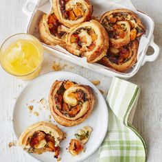 Find out how to make butternut squash & blue cheese danish pastries with this recipe - made with ready rolled puff pastry sheets and ready in just 20 minutes.