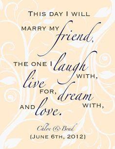 Custom Wedding Poem Digital Print Gift 8 x 10 by DIGITALTOASTER, $19.00