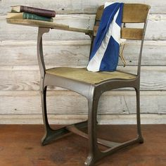 School Chair With Desk now featured on Fab.