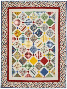 Vintage Charm Quilting Pattern from the Editors of American Patchwork & Quilting Star Quilts, Scrappy Quilts, Easy Quilts, Quilt Blocks, Charm Square Quilt, Charm Quilt, Antique Quilts, Vintage Quilts, Houston Quilt Show