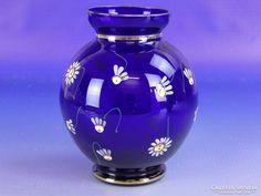 0F548 Virágdíszes kék színű parádi üveg váza Home Decor, Decoration Home, Room Decor, Home Interior Design, Home Decoration, Interior Design