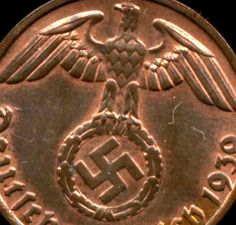 Rare Very Old Antique Germany WW2 WWII Nazi Swastika Collectible Gift Penny Coin. FREE INTERNATIONAL SHIPPING!!!!