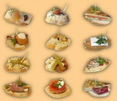 Pintxos: is a Basque word for canapés Wine Recipes, Snack Recipes, Cooking Recipes, Healthy Recipes, Snacks, Basque Food, Tapas Bar, Food Out, Recipe For Mom