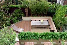 Fresh Terrace Design with Green View: Cool Modern Style Wooden Deck Terrace Design Natural Atmosphere ~ stepinit.com Terrace