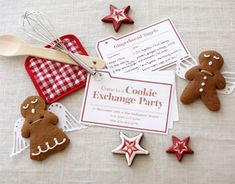 Invitation card for Christmas cookie exchange party