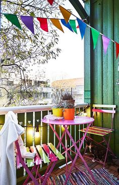 #Decoracion_primaveral para balcones.