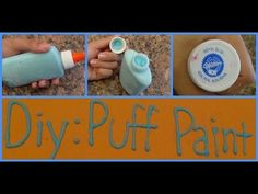 Diy: Puff Paints ( From Scratch!) - YouTube