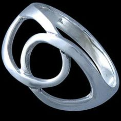 Silver ring, interweaving Silver ring, Ag 925/1000 - sterling silver. Two interweaving links - bold.